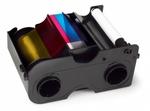 Fargo YMCKO: Картридж с лентой и чистящим валиком 500 отпечатков для DTC4500